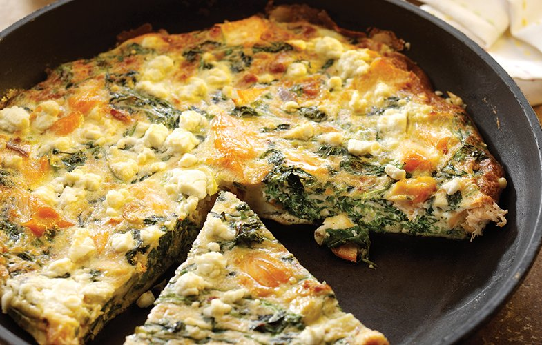 Hot smoked salmon & watercress frittata – appetite magazine
