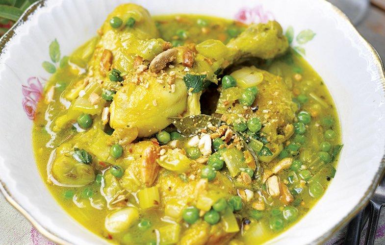 Saffron-braised Chicken with Almonds and Garlic – appetite ...
