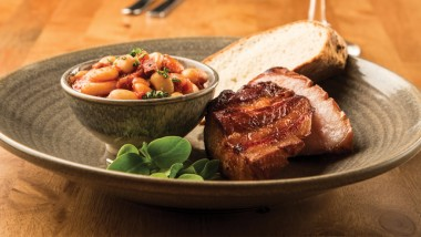 Belly pork and chorizo cassoulet