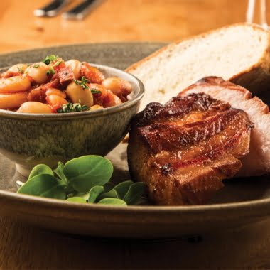 Belly pork and chorizo cassoulet