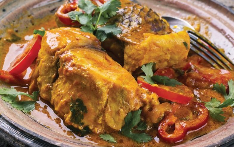 Fish stew with harissa