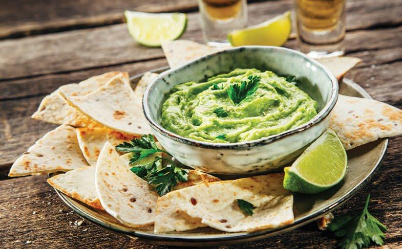 No-guilt asparagus guacamole