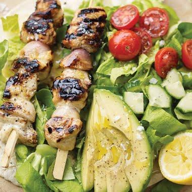 Chicken shashlik salad
