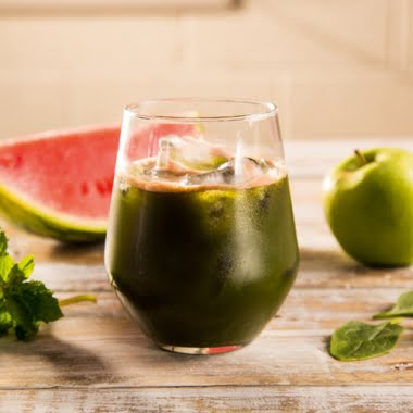 Catriona's spinach and watermelon whiz juice