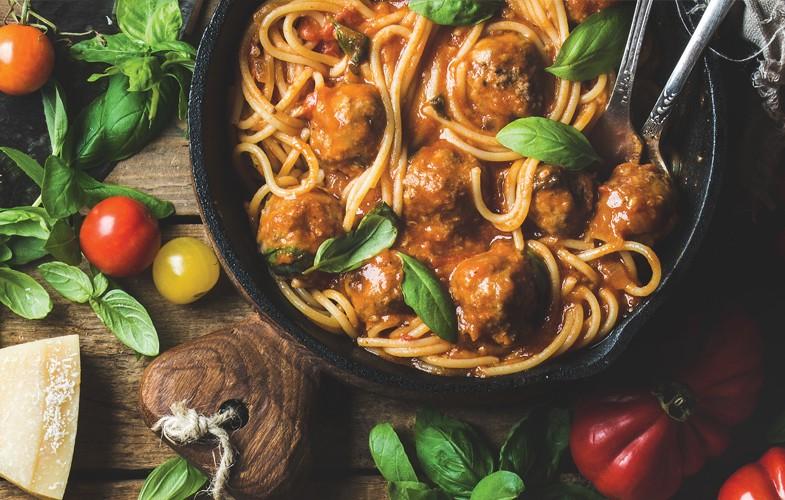 Spaghetti with Hooba balls