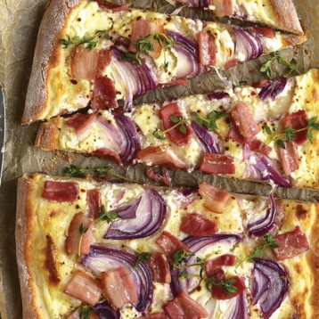 Quick tarte flambee