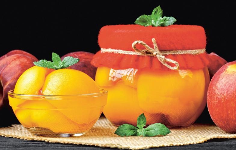 Peaches in Cointreau