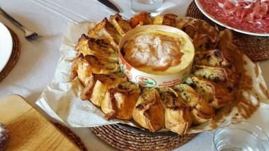 Mrs Higgs' Potato & Mont d'Or tear & share pie