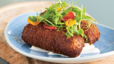 Chorizo and black pudding croquettes