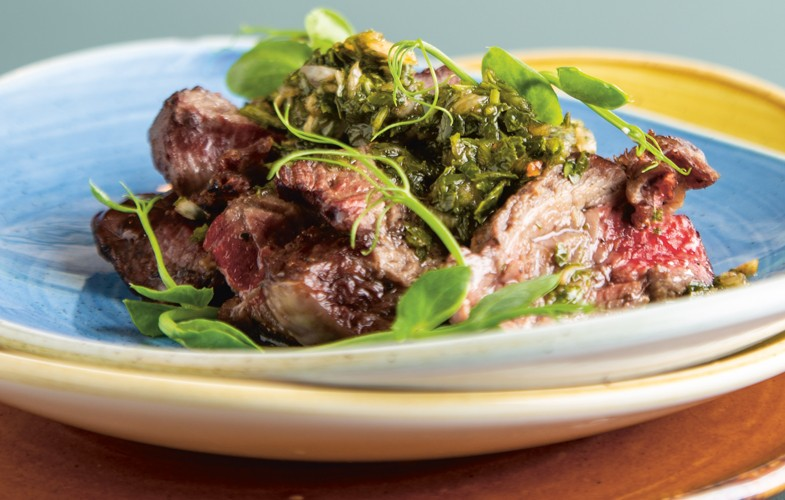 Steak ribeye with chimichurri
