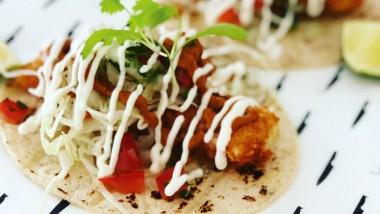 Monkfish tacos