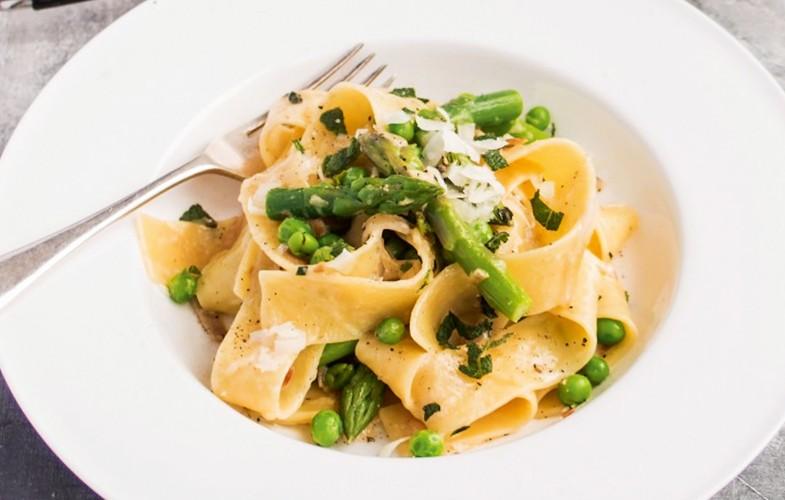 British asparagus spring pasta