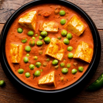 Vegetable and paneer soup