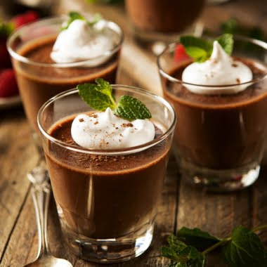 Easy rich chocolate pots