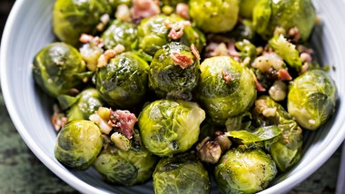 Nutty sprouts & pancetta