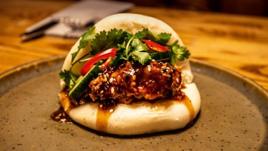 Korean king prawn bao
