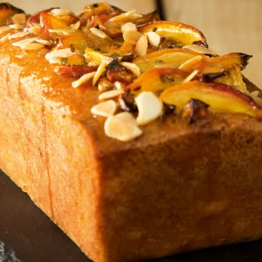 Nectarine and fennel loaf cake