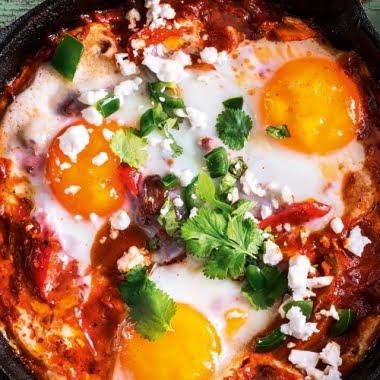 Shakshuka(Tunisian baked eggs)