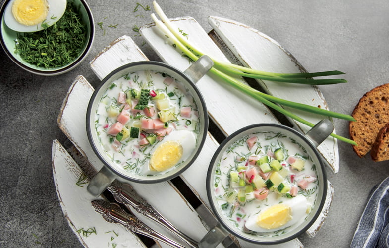 Okroshak (Cold Russian soup)