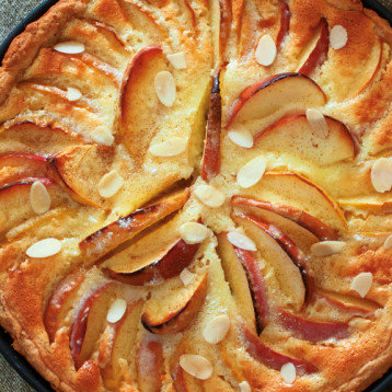 Calvados apple tart