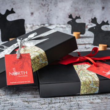 Christmas gift boxes from North Chocolates