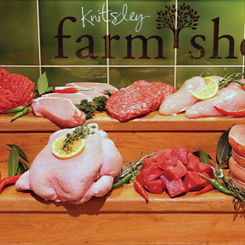 Any three packs of mince or stewing steak for £10 at Knitsley Farm Shop