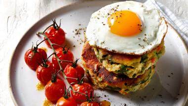 Bubble and squeak stack